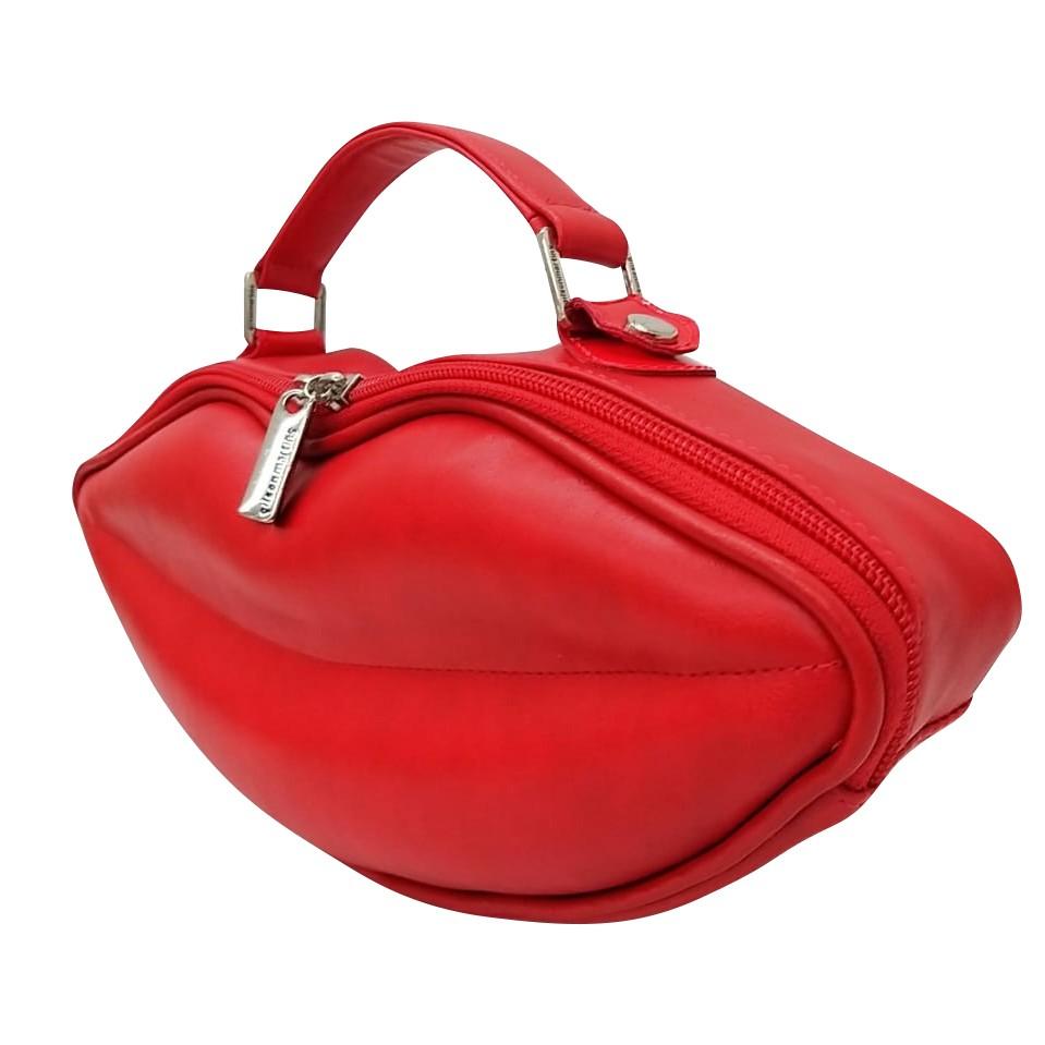Bolsa de Mão Exclusiva Boca Vermelha