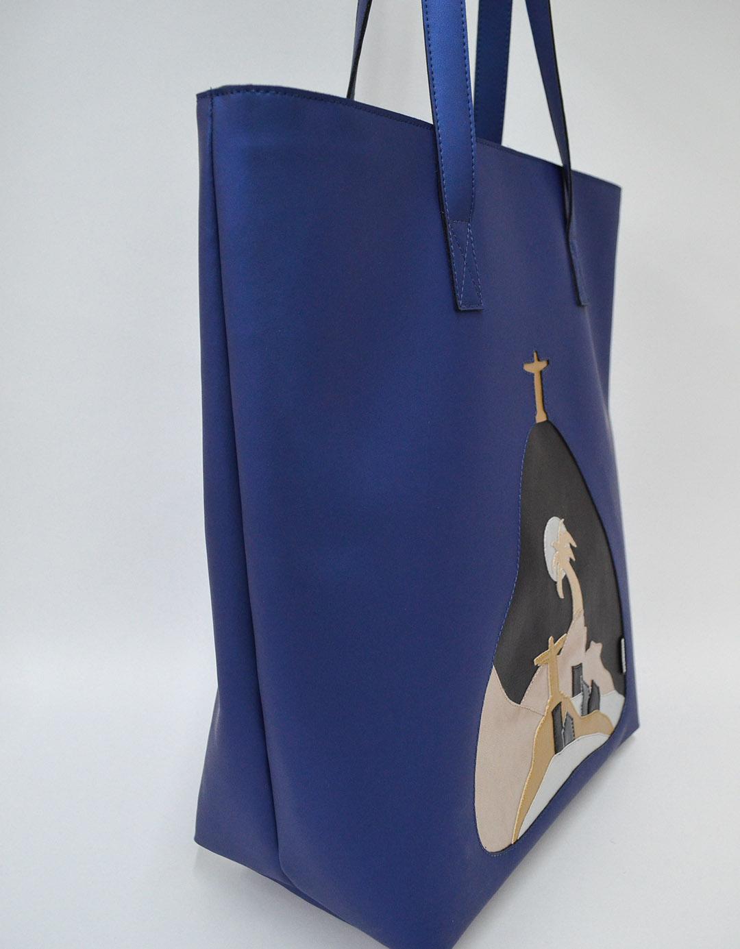 Bolsa de Ombro Azul Vega Lixo Nobre