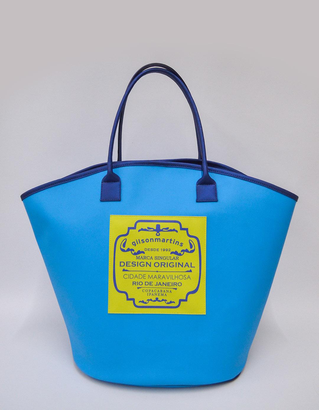Bolsa de Ombro Maíra Label - Azul