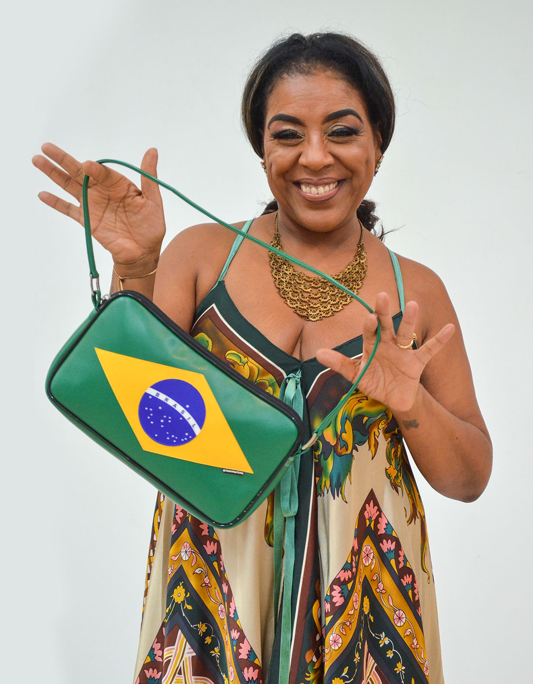 Bolsa Feminina de Ombro Brasil Customizada Marie