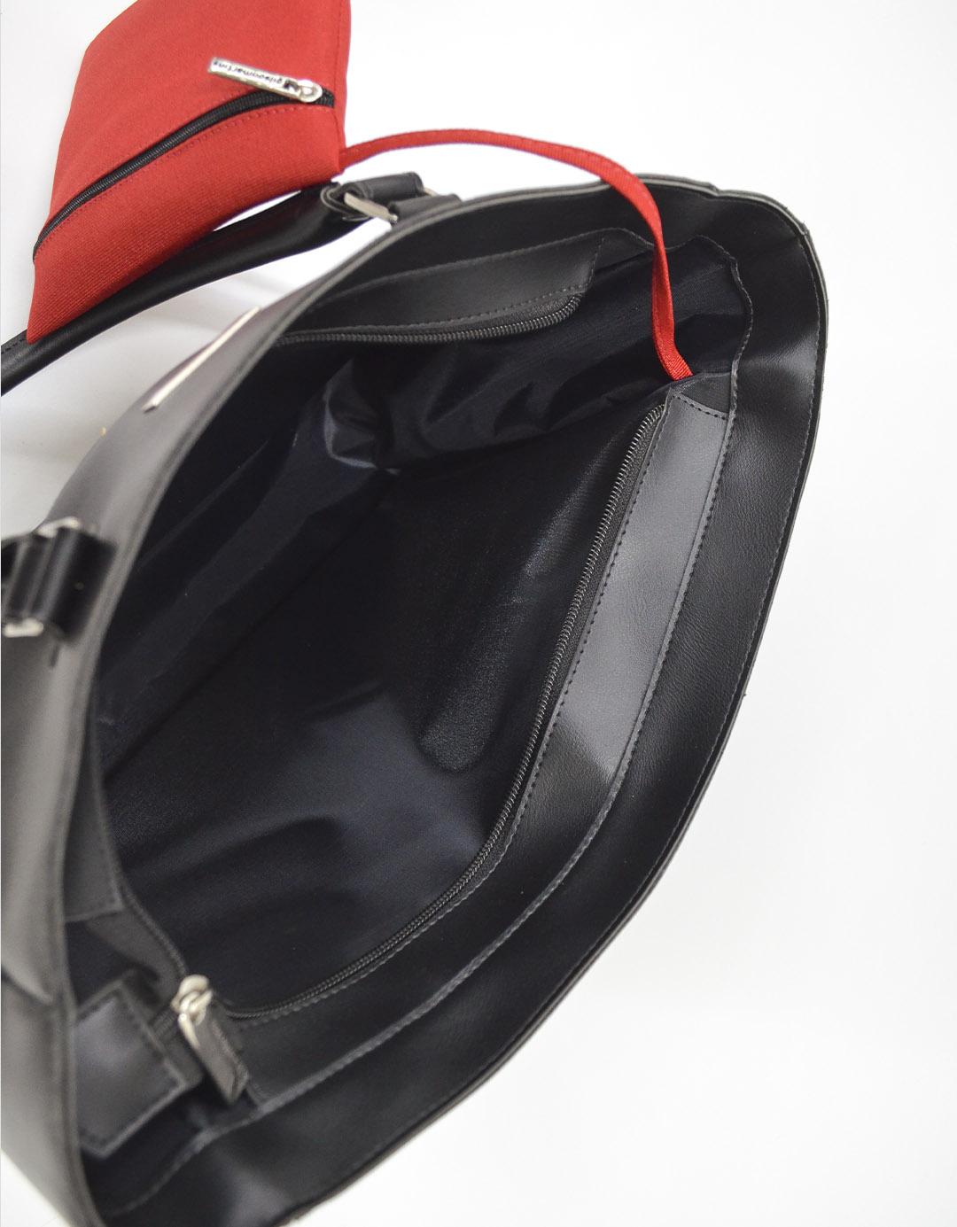 Bolsa Feminina de Ombro Preta Customizada Ipanema Lixo Nobre