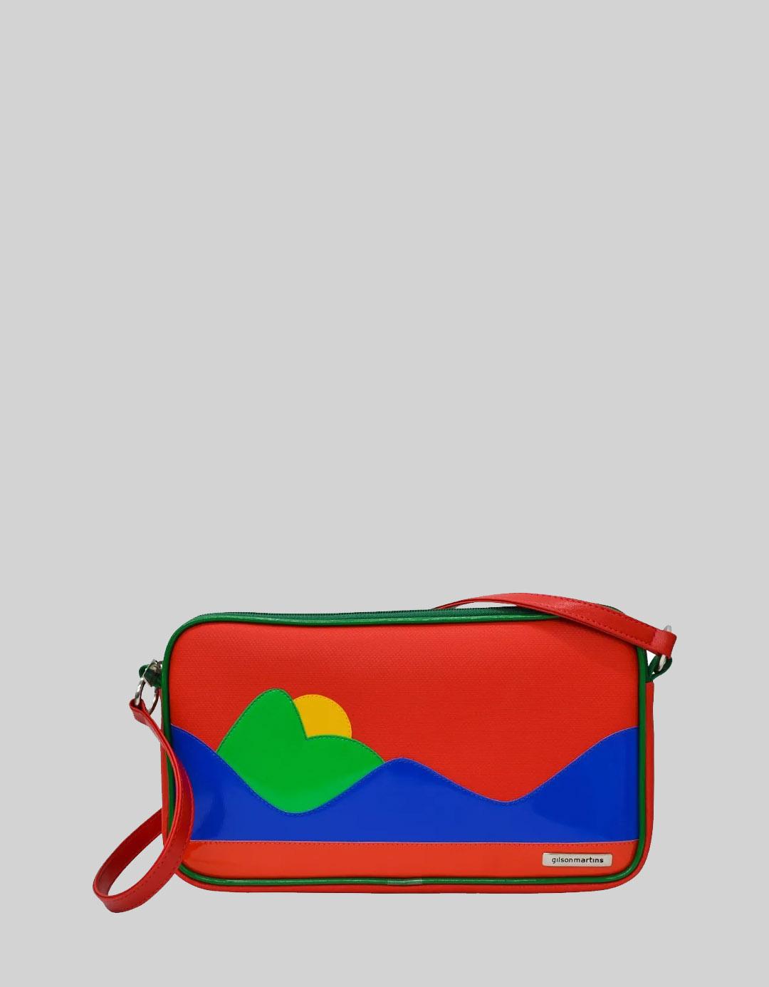 Bolsa Feminina de Ombro Vermelha Customizada Marie Rio