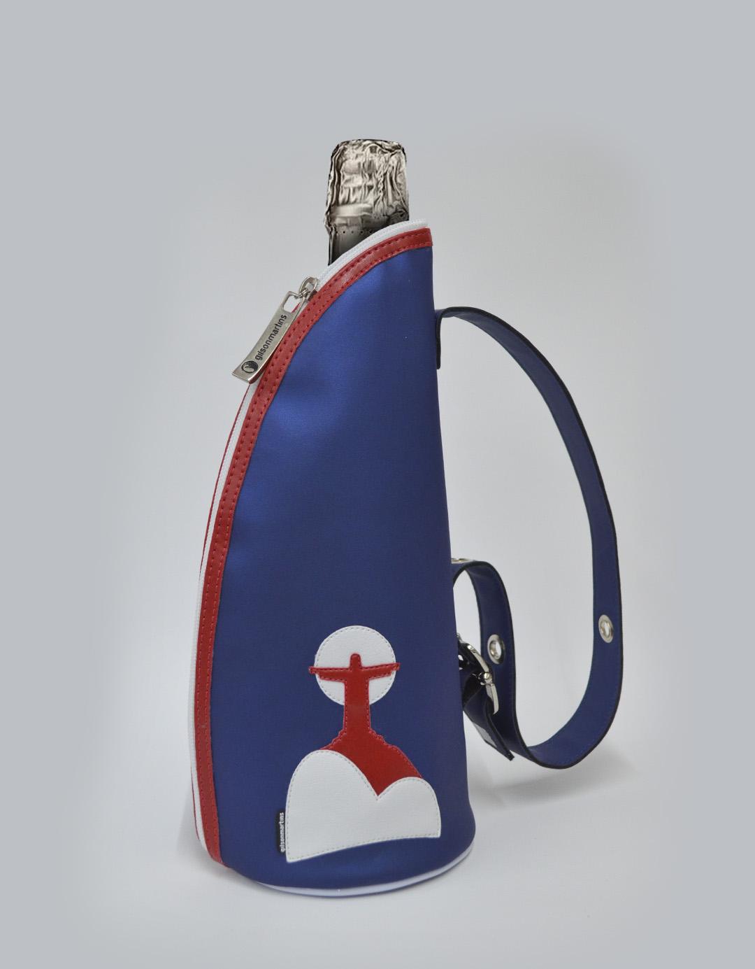 Bolsa Porta Champagne Azul Térmico