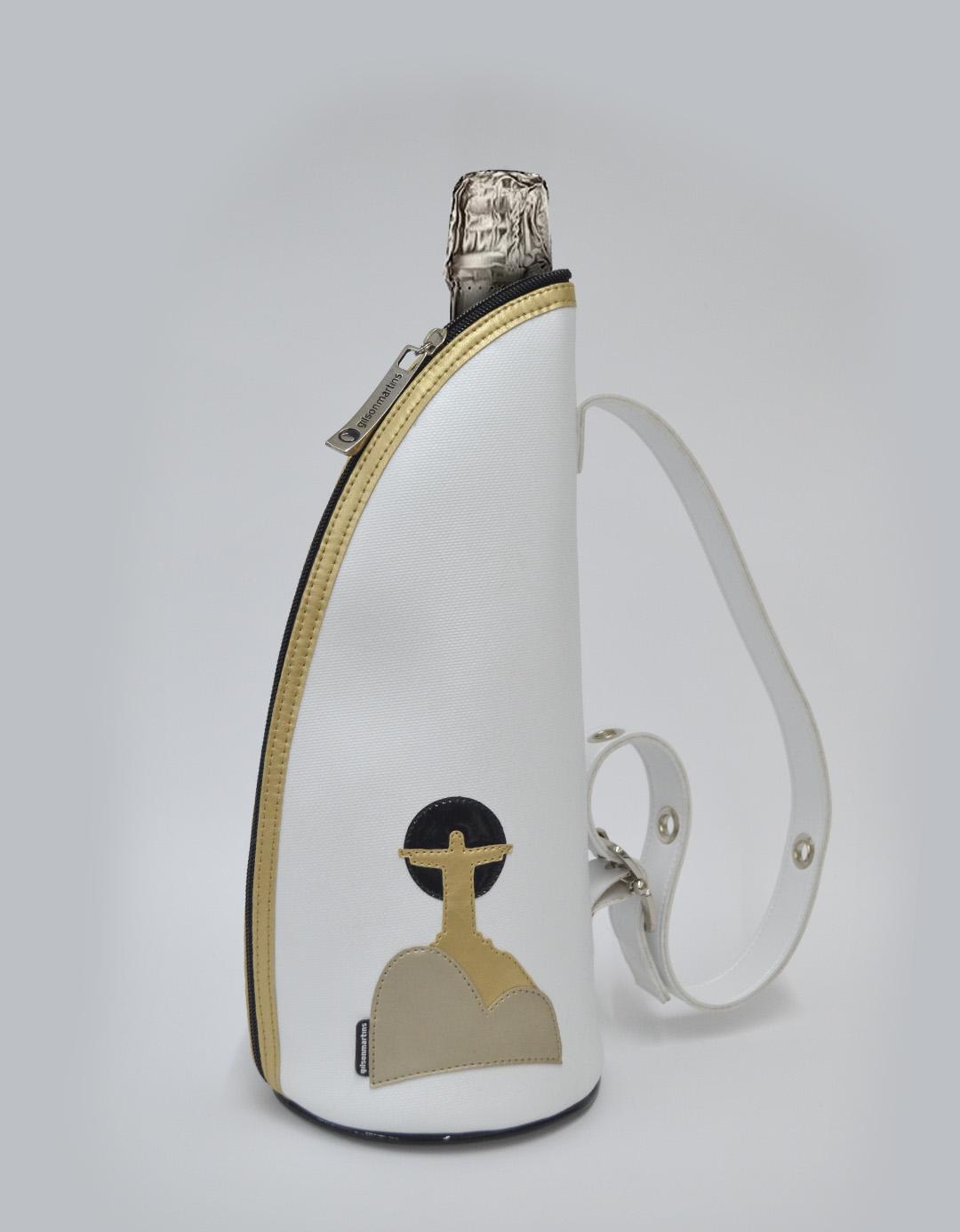 Bolsa Porta Champagne Branco Térmico