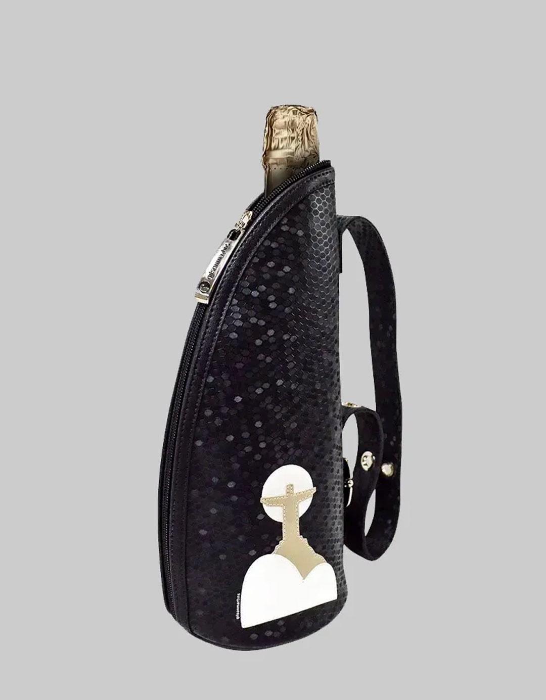 Bolsa Porta Champagne Preta Térmico