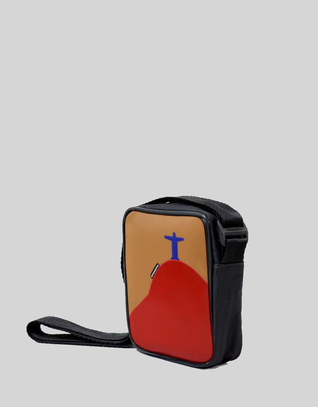 Bolsa Transversal Cross Bag Preta Marrom Ben