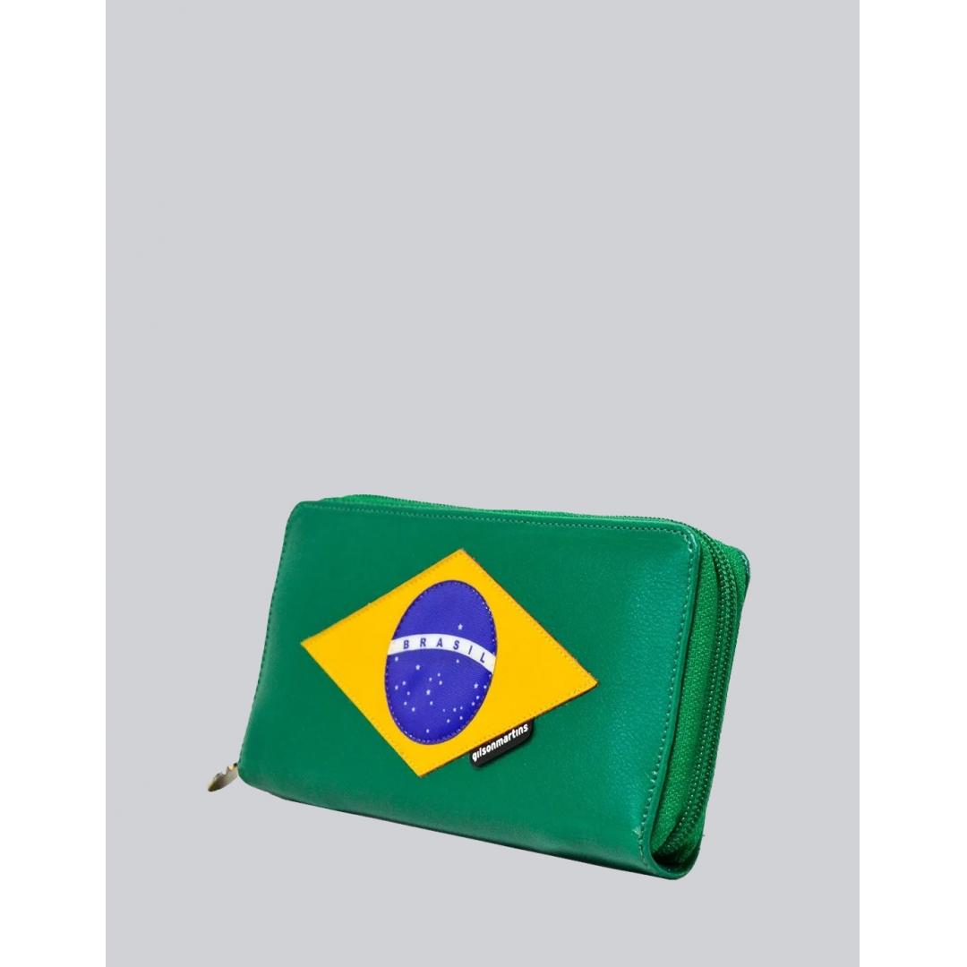 Carteira Feminina Zíper Brasil Exclusiva G