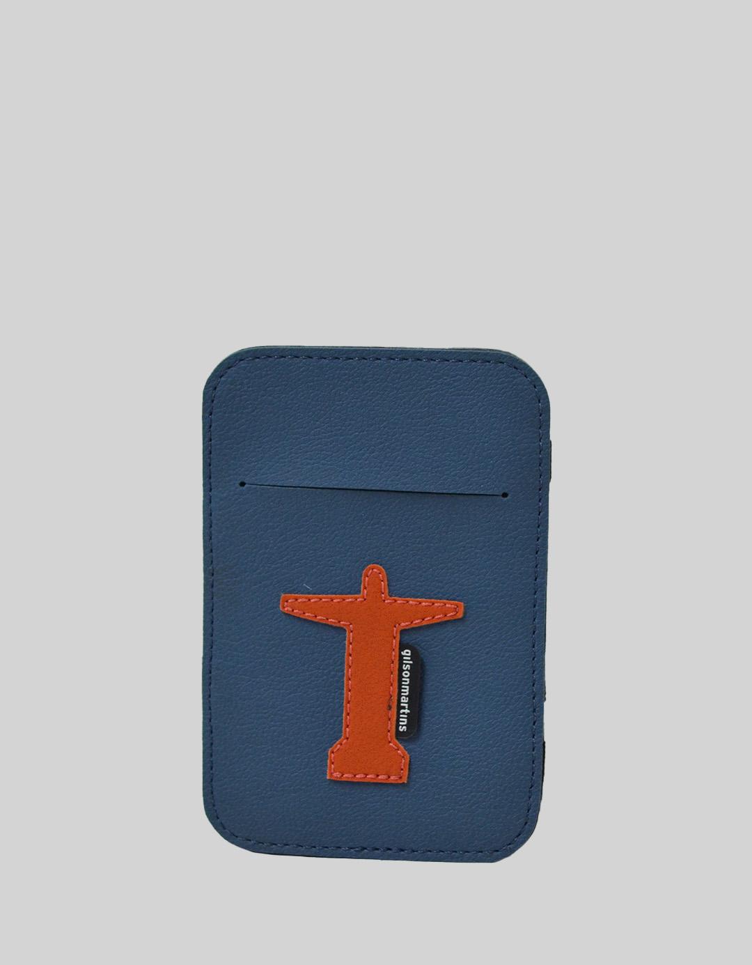 Carteira Mágica Masculina Slim Azul Lucas Cristo