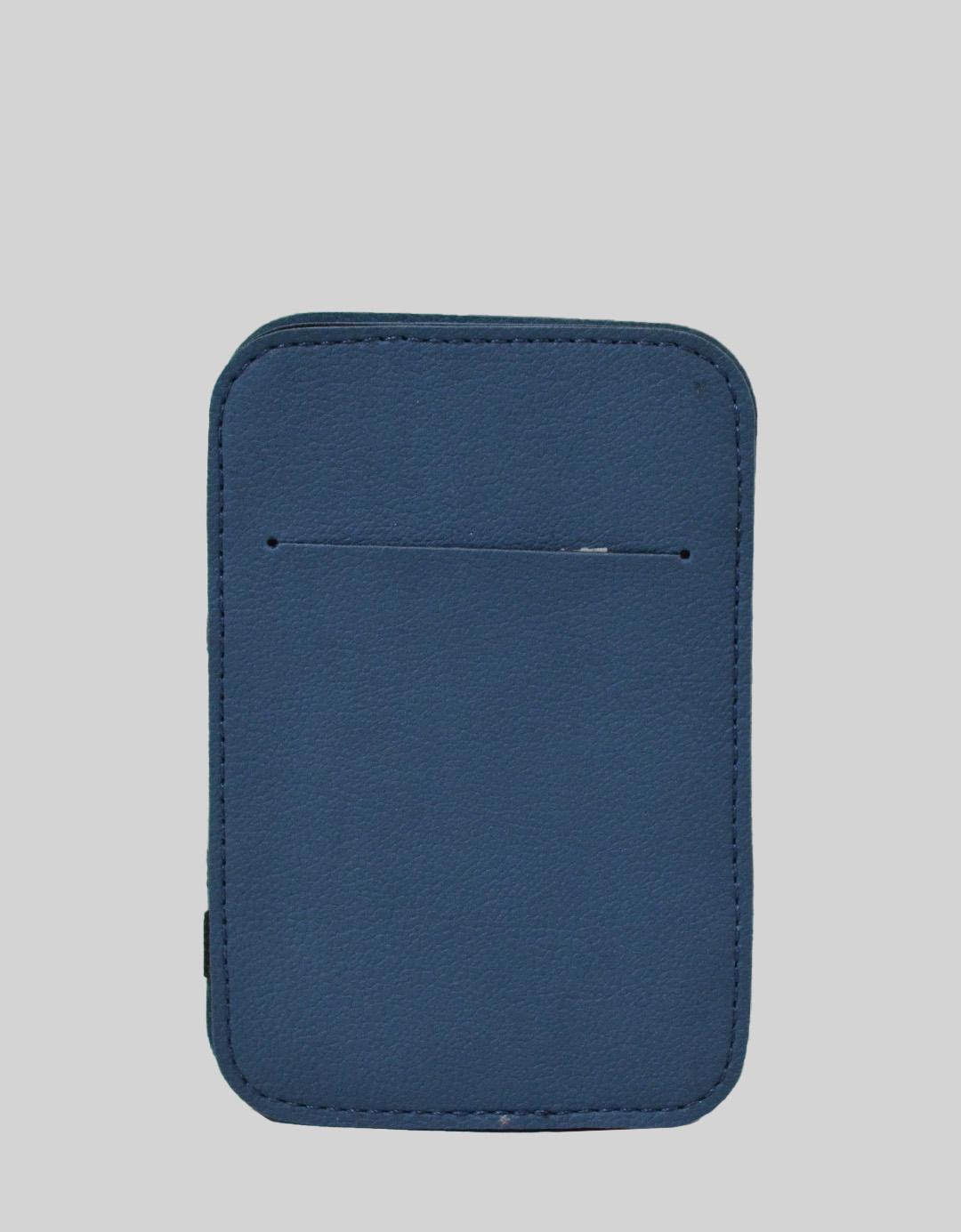 Carteira Mágica Masculina Slim Azul Lucas Pão