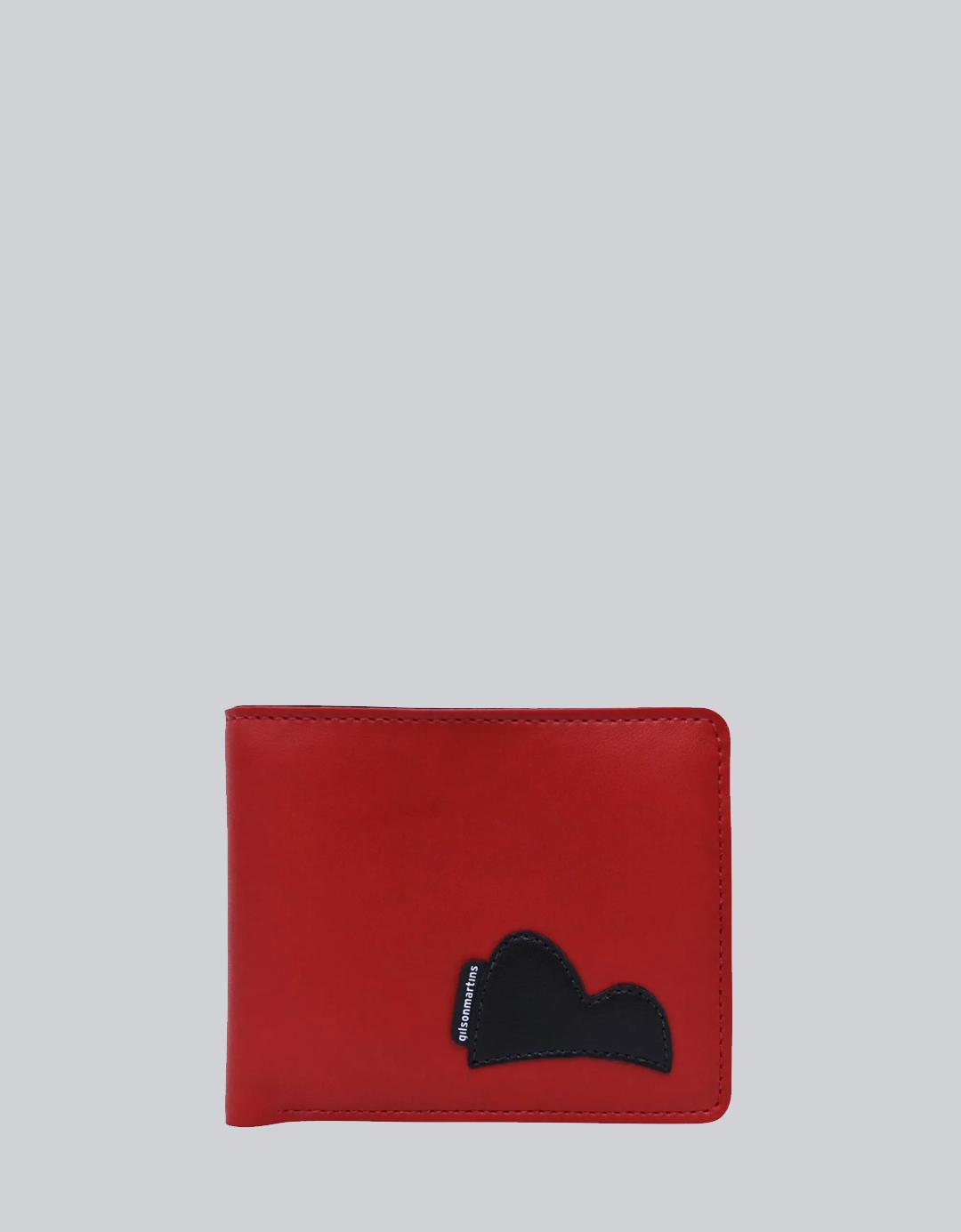 Carteira Masculina Slim Vermelha Vinícius