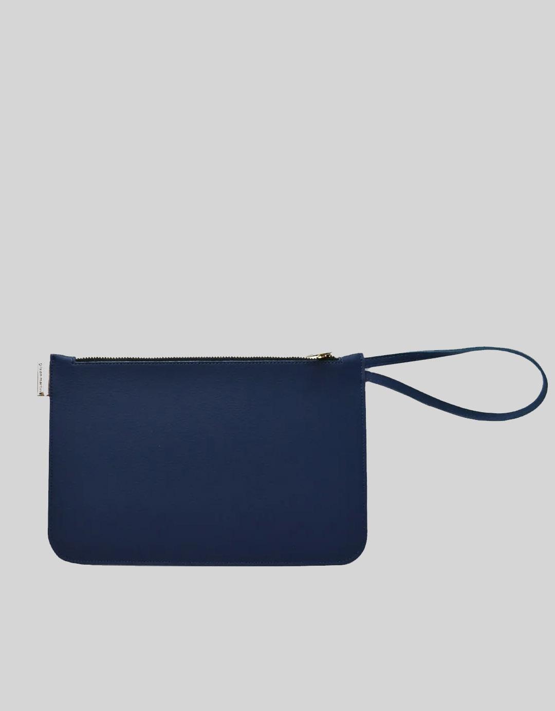 Clutch Customizada Azul Marinho Soft Gilson Martins