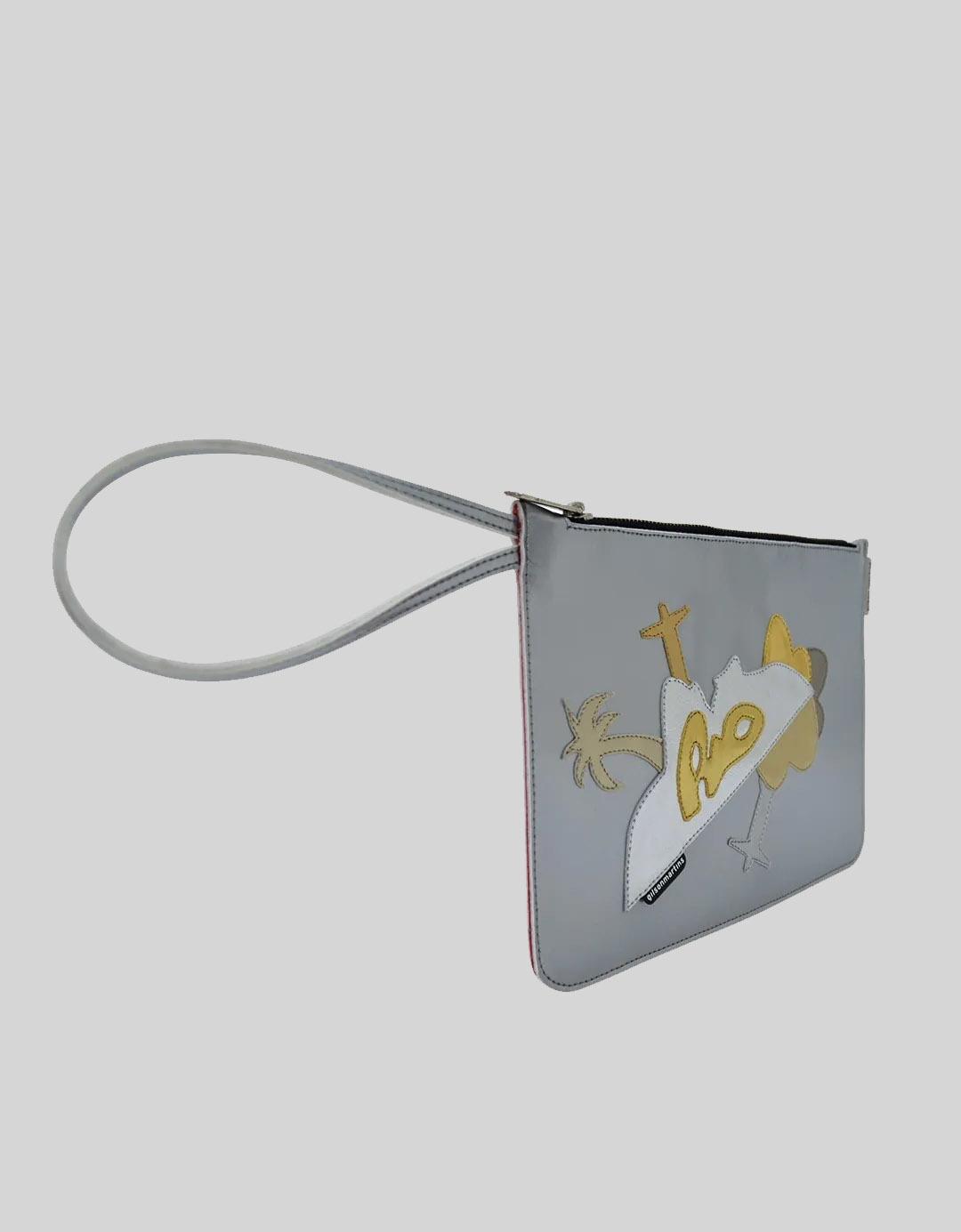 Clutch Customizada Prata Peça Única Soft