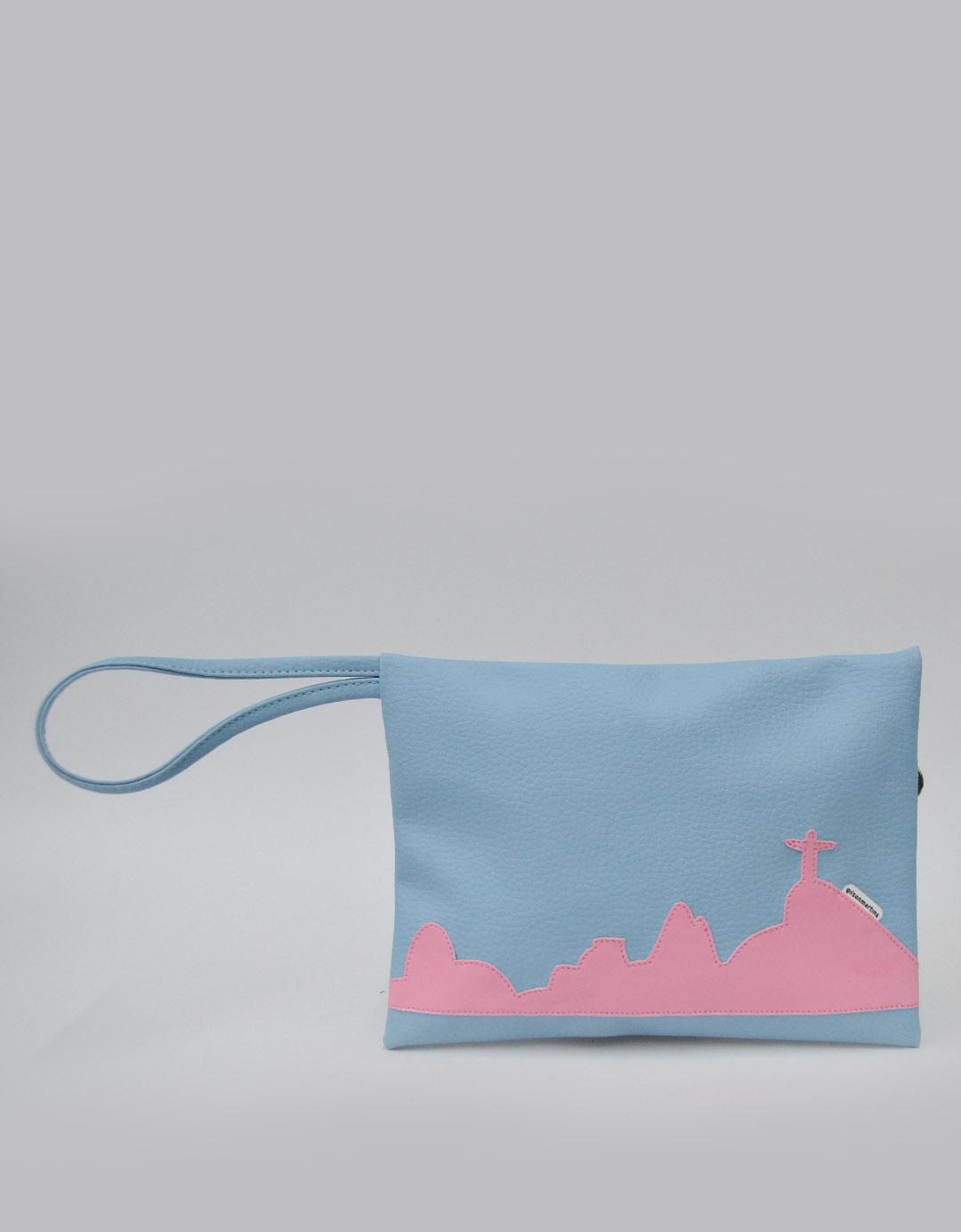 Clutch Multiuso Azul tipo Envelope Paty