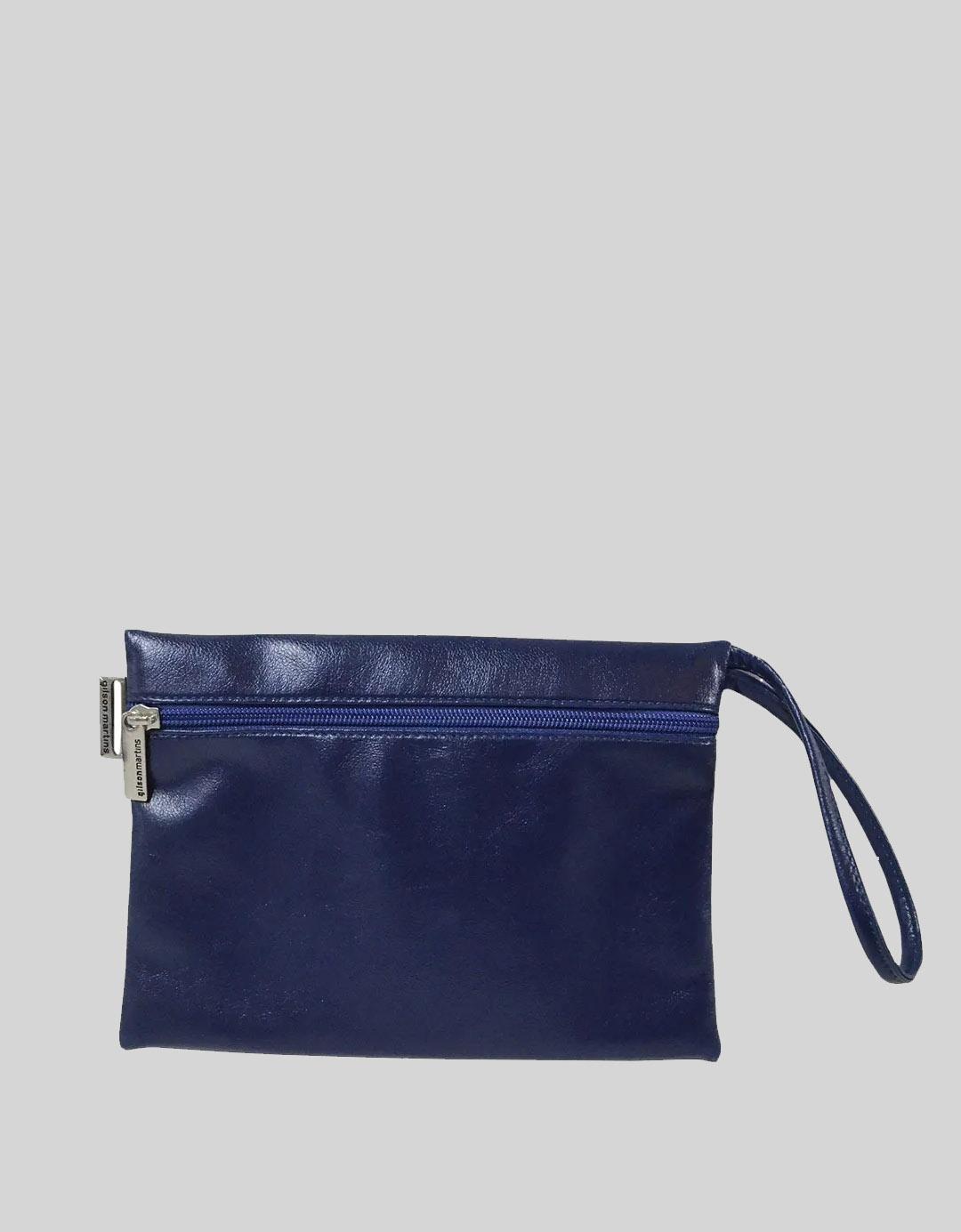 Clutch Multiuso Azul tipo Envelope Paty Lixo Nobre