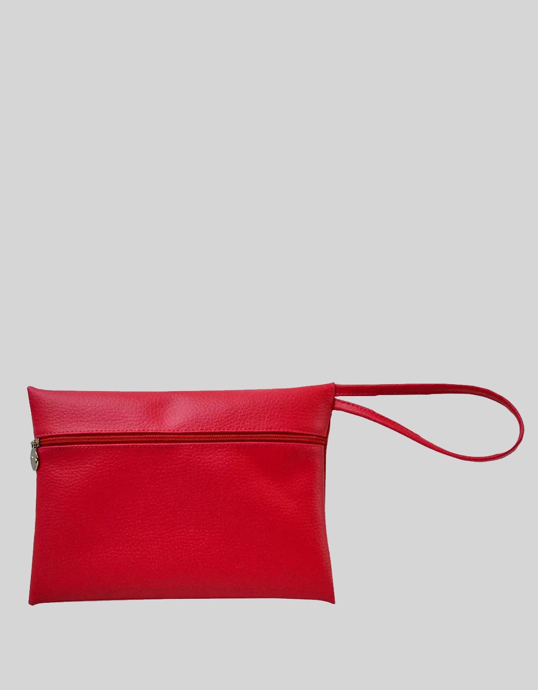 Clutch Multiuso Vermelha tipo Envelope Paty