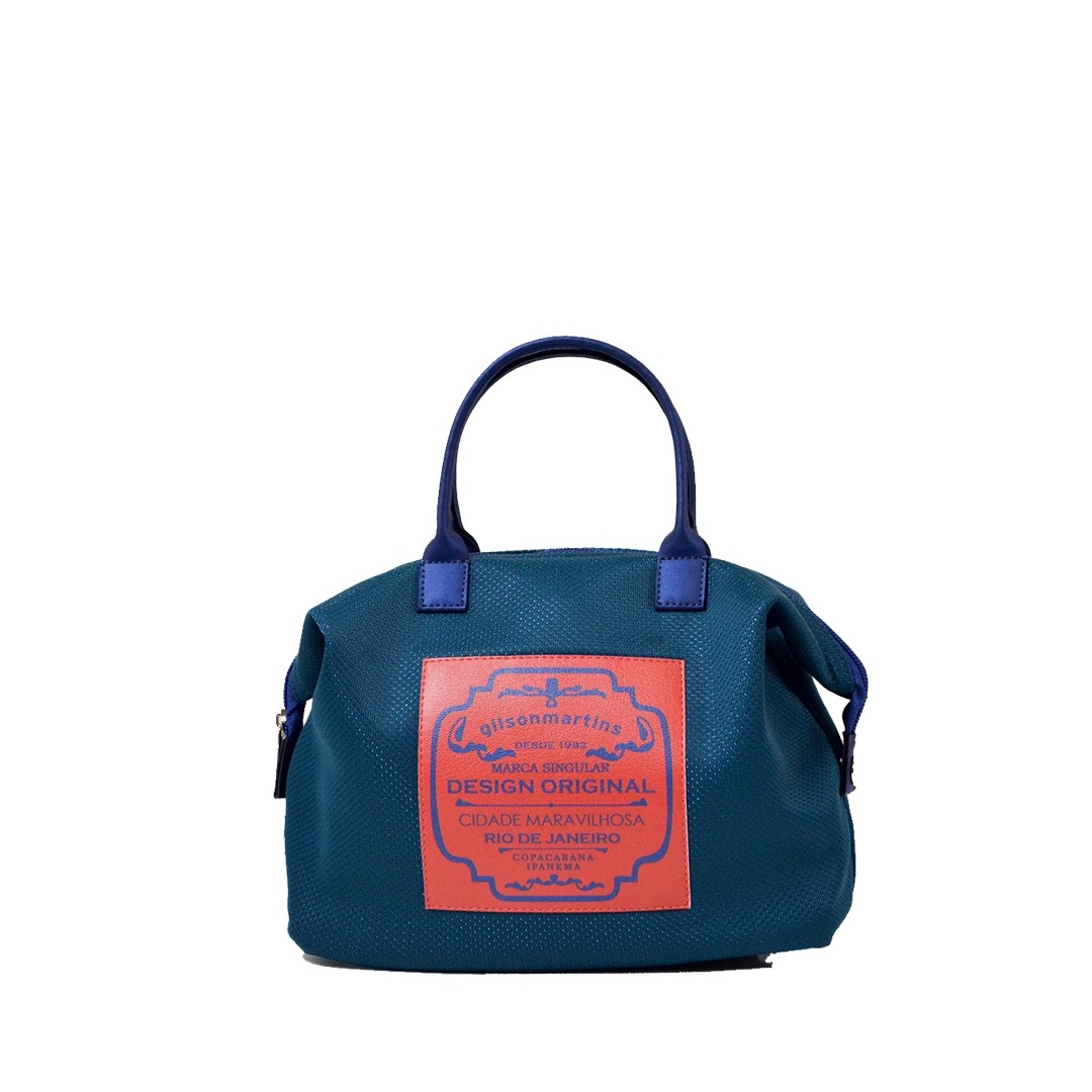 Mini Bolsa de Mão Azul Petróleo Lory