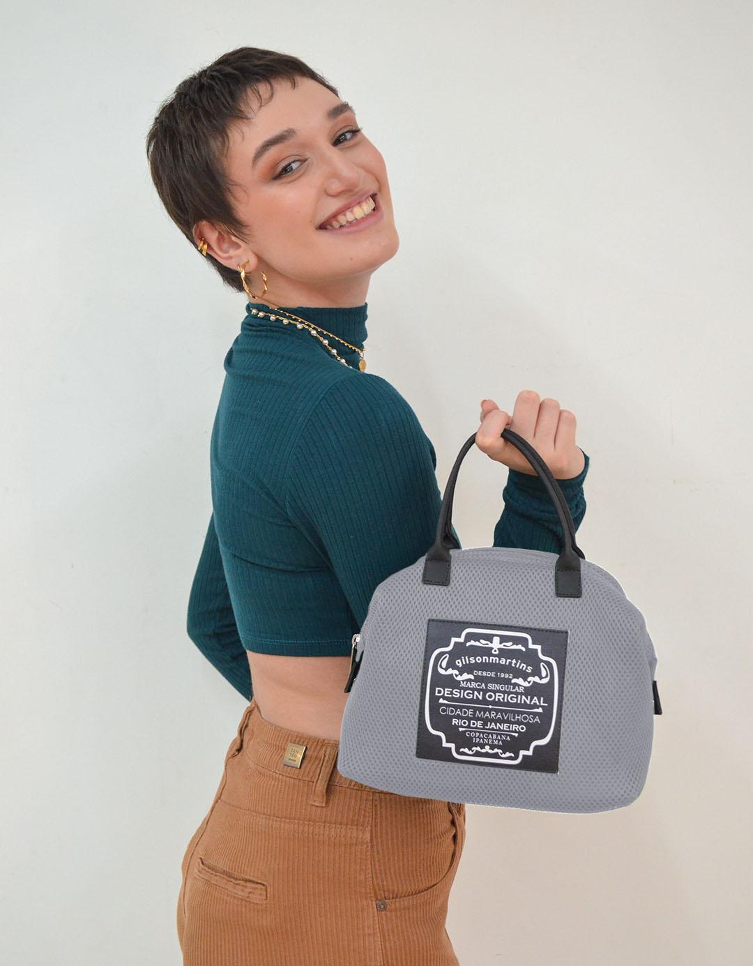 Mini Bolsa de Mão Cinza Lory