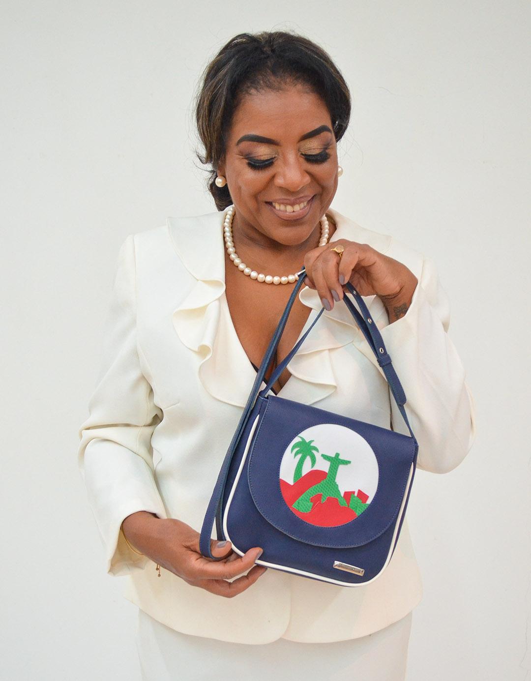 Mini Bolsa Shoulder Bag Marinho Irina Lixo Nobre