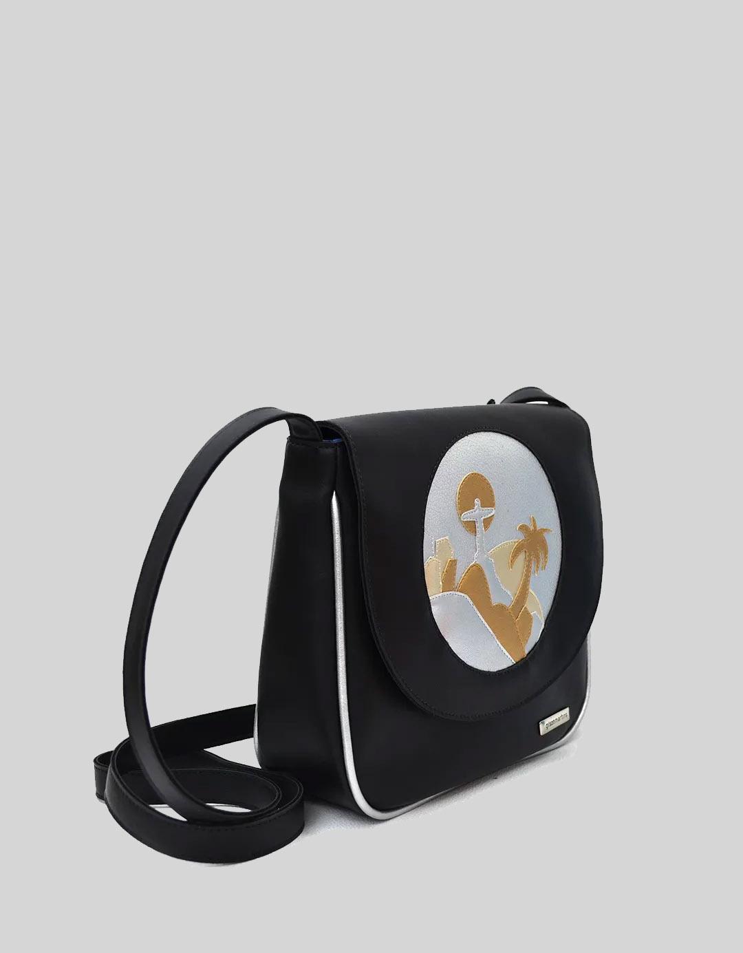 Mini Bolsa Shoulder Bag Preta Irina Lixo Nobre