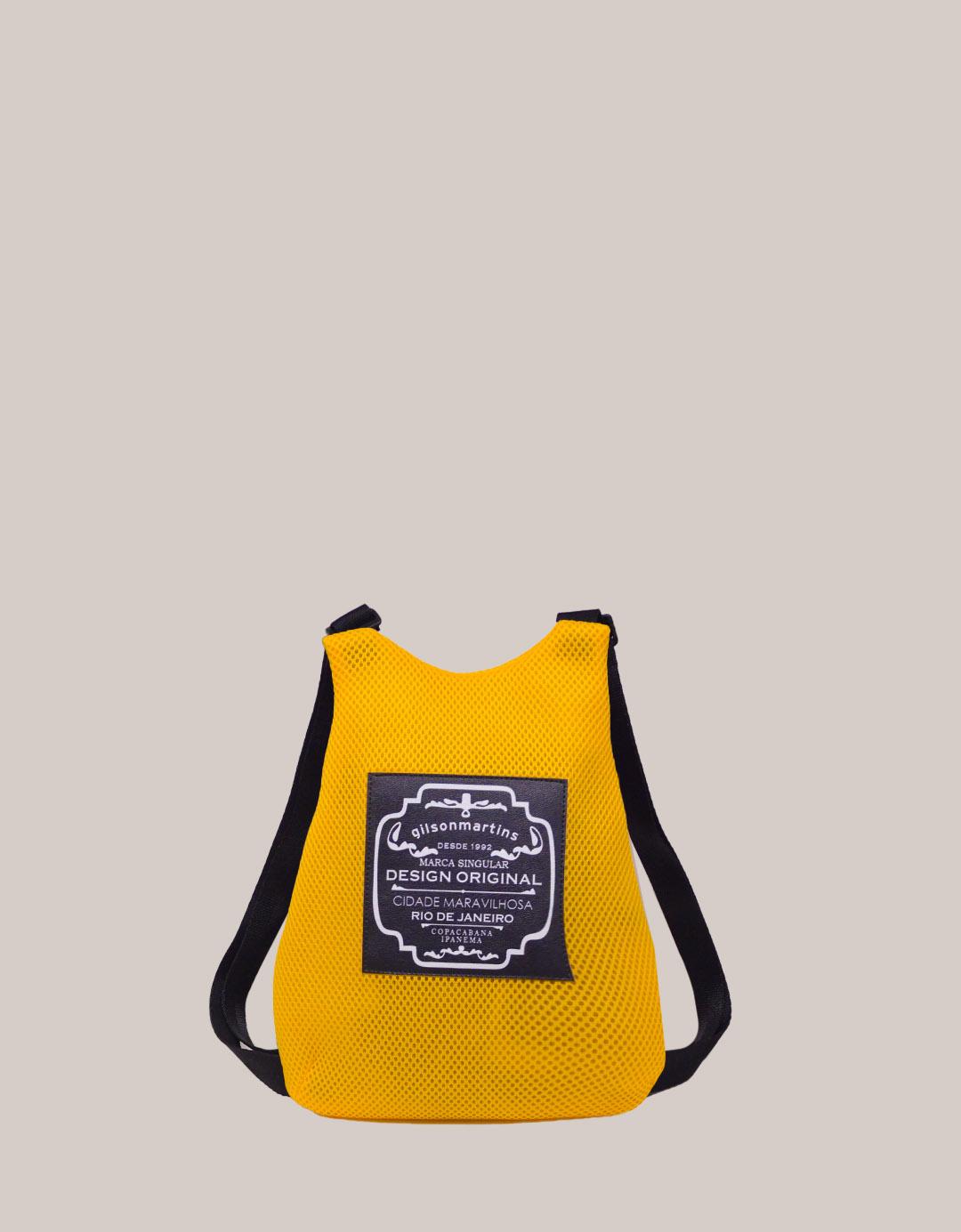 Mini Mochila Amarela Fitness Lola