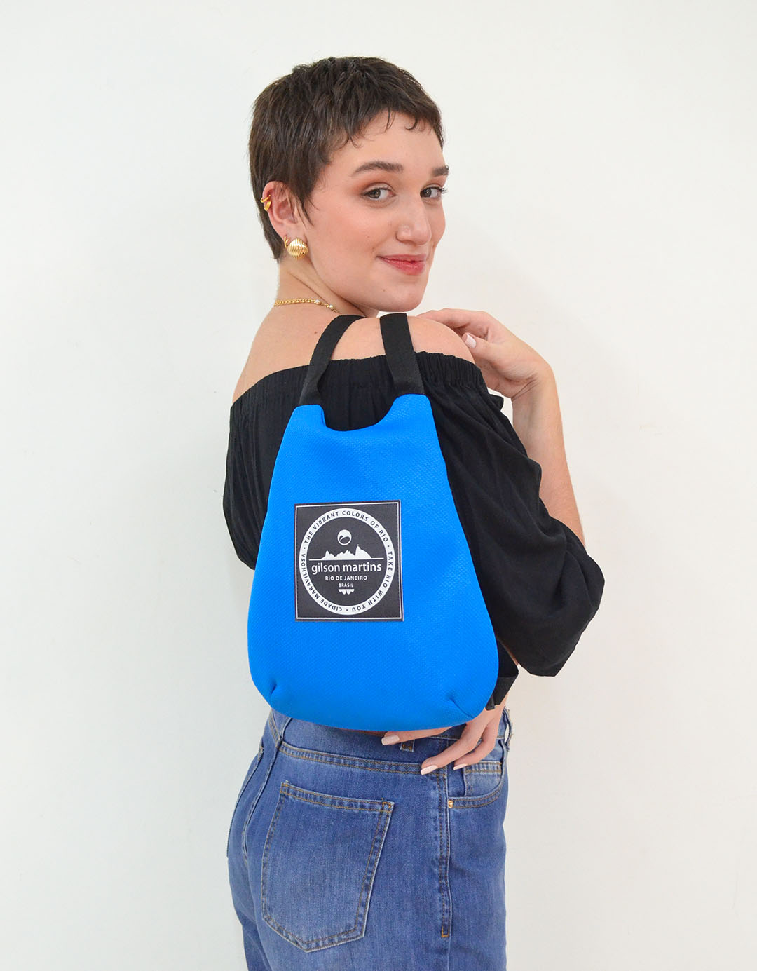 Mini Mochila Azul Turquesa Fitness Lola