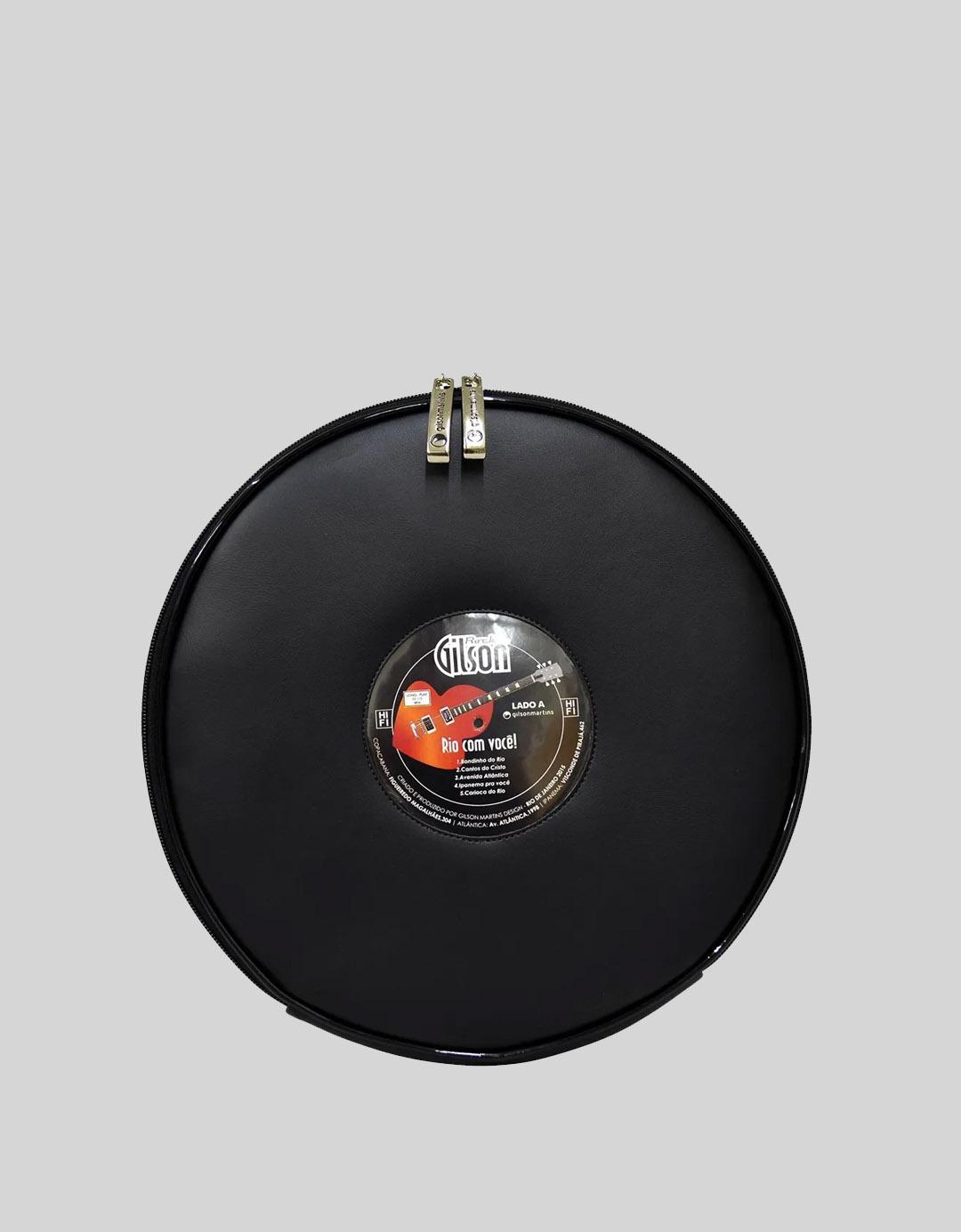 Mochila Divertida Preta Exclusiva Disco LP