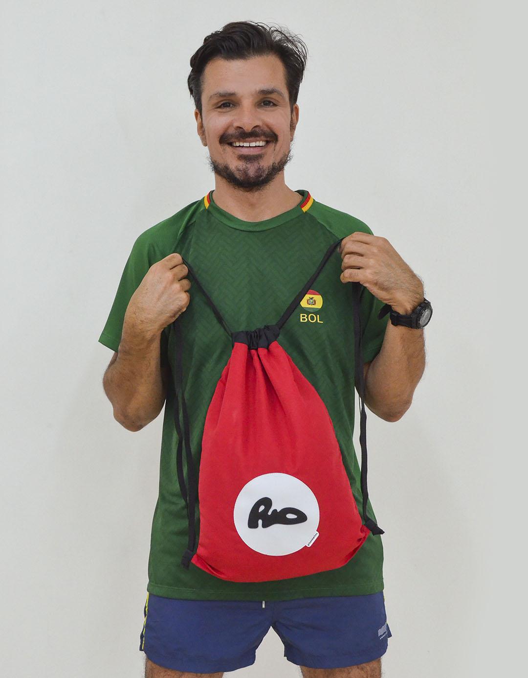 Mochila Saco Vermelho Fitness Praia Carioquinha
