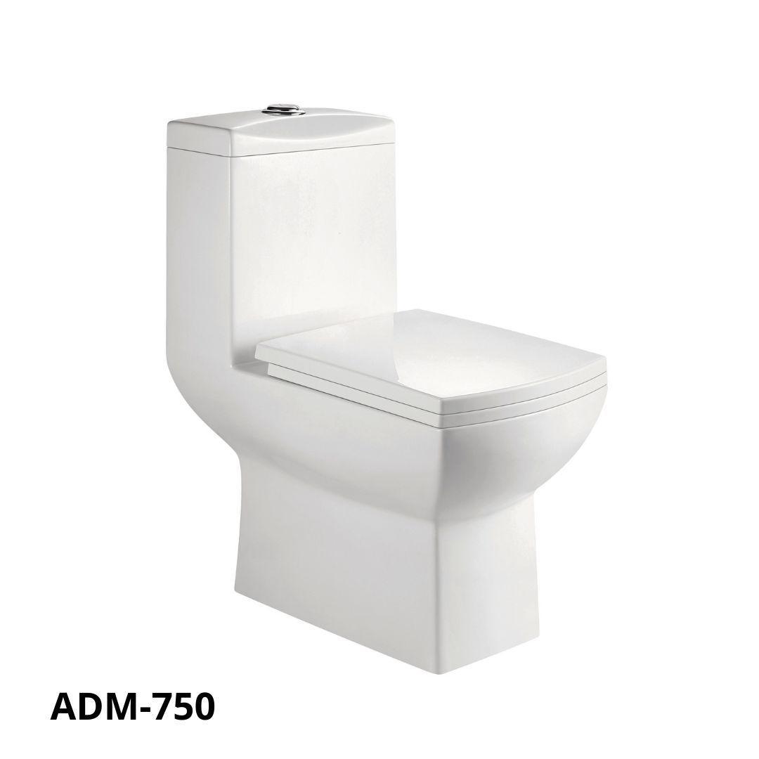 Bacia Monobloco Adamas + Assento + Instalação