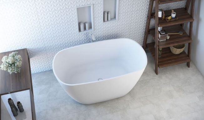 Banheira de Imersão Sabbia Olinda  branca acetinada com válvula click cromada.