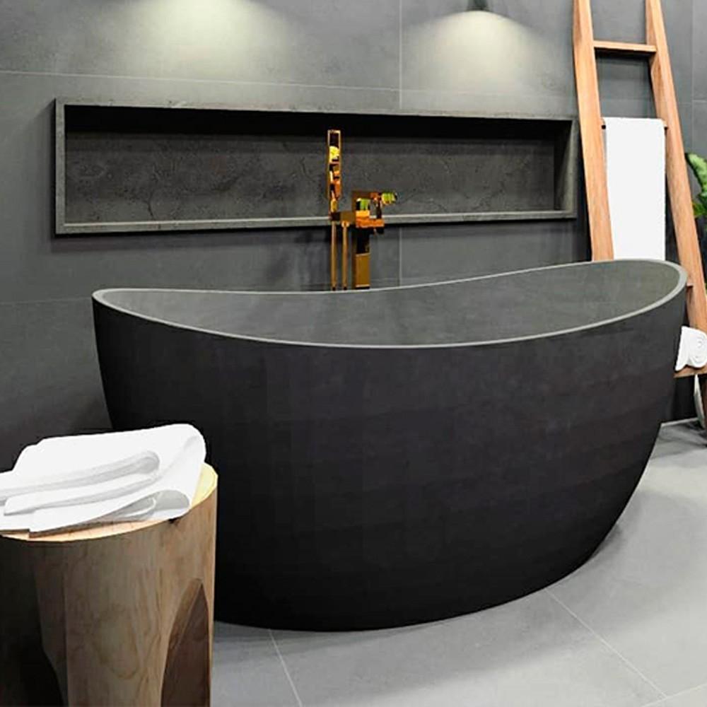 Banheira de Imersão Sabbia Sampa Cinza Rustico Acetinado.