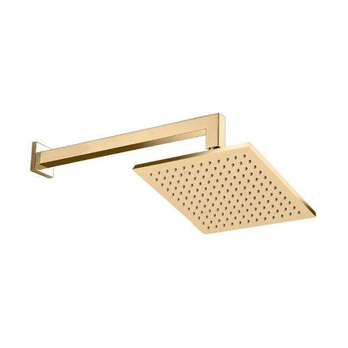 Chuveiro de Parede 30cm x 30cm Acabamento Dourado - Linha Spa Quadro