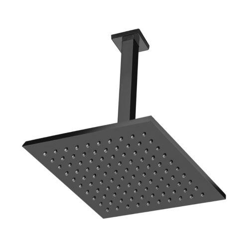 Chuveiro de Teto 20cm x 20cm Acabamento Black Matte - Linha Spa Quadro