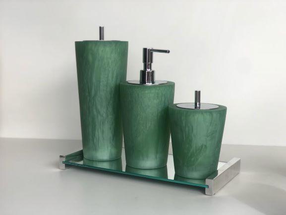 Conjunto conne 3 peças  jade cromado