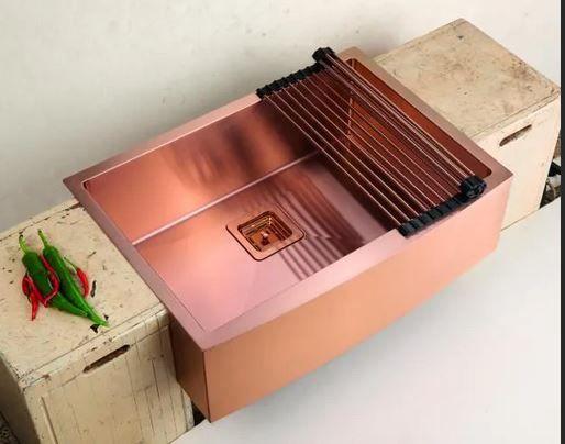 Cuba de Semi Encaixe para Cozinha - Rose Gold Escovado