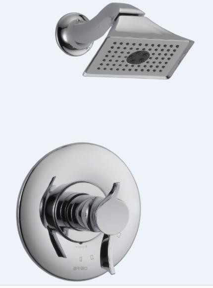Ducha com Misturador Termostático Cromado Brizo