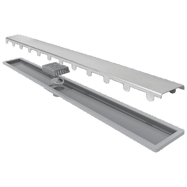 Elleve Ralo Linear Smart - Tampa Inox 60cm