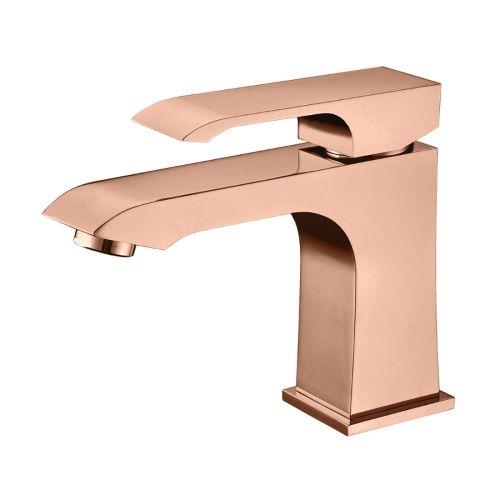 Misturador Monocomando para Lavatório Acabamento Rose Gold - Linha Fashion