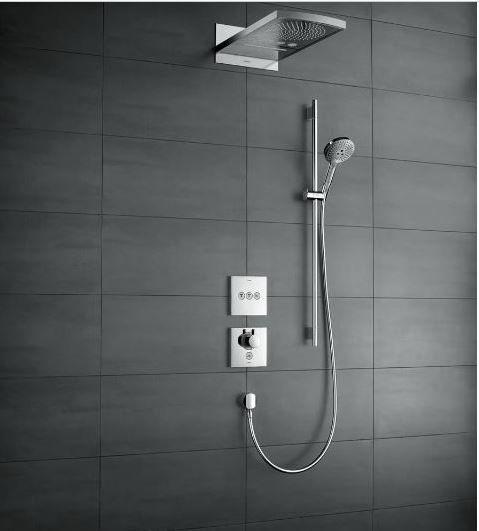 Termostato Select Hansgrohe para 4 pontos de água.