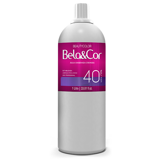 Água Oxigenada Cremosa - Beautycolor Bela&Cor 40 - 1l