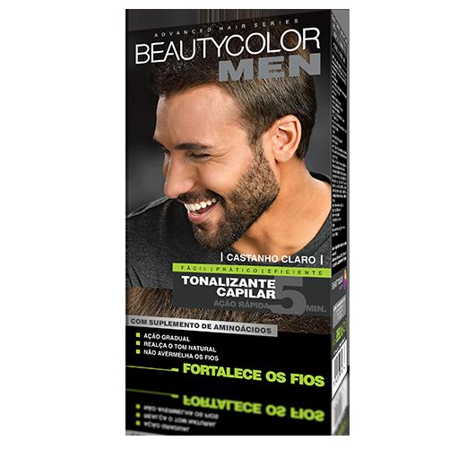 Castanho Claro - Tonalizante Gel s/ Amônia Beautycolor Men