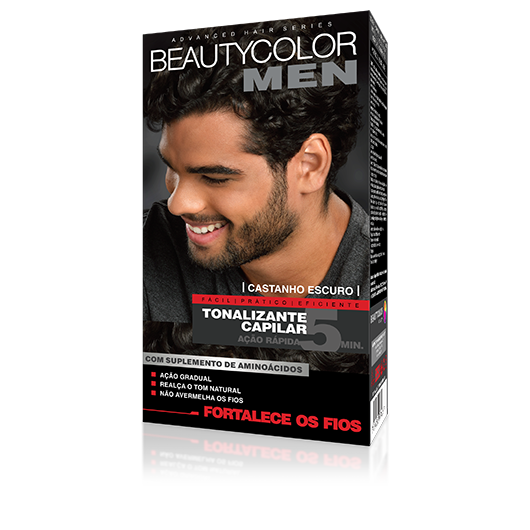 Castanho Escuro  - Tonalizante Gel s/ Amônia Beautycolor Men