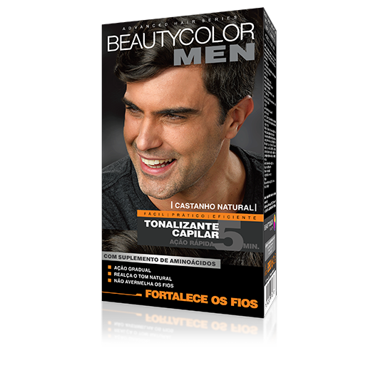 Castanho Natural  - Tonalizante Gel s/ Amônia Beautycolor Men