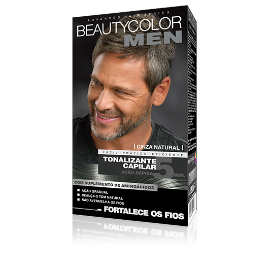 Cinza Natural - Tonalizante Gel s/ Amônia Beautycolor Men