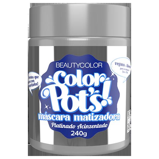 Color Pot`s Máscara Matizadora - Platinado Acinzentado