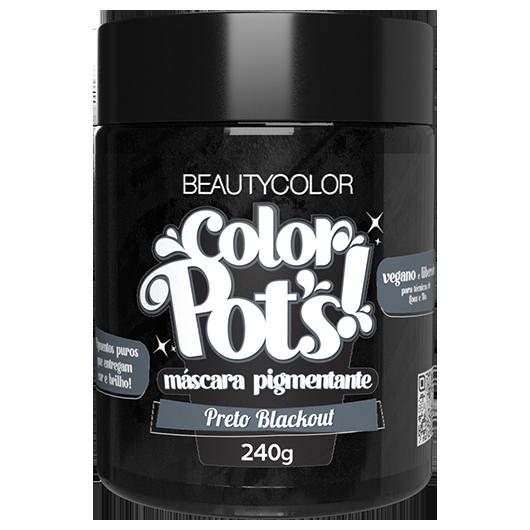 Color Pot's Máscara Pigmentante - Preto Blackout