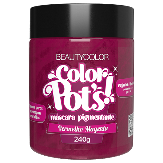 Color Pot's Máscara Pigmentante - Vermelho Magenta