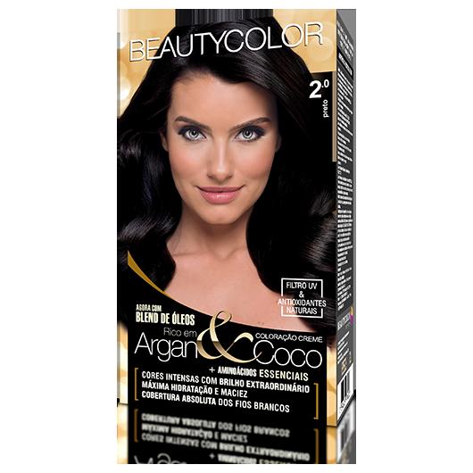Coloração BeautyColor Permanente Kit - 2.0 Preto