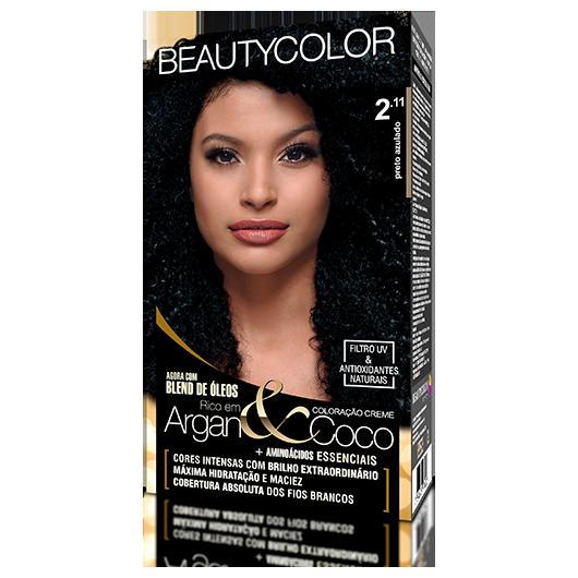 Coloração BeautyColor Permanente Kit - 2.11 Preto Azulado
