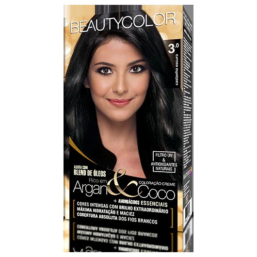 Coloração BeautyColor Permanente Kit - 3.0 Castanho Escuro