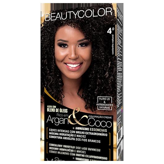 Coloração BeautyColor Permanente Kit - 4.0 Castanho Natural
